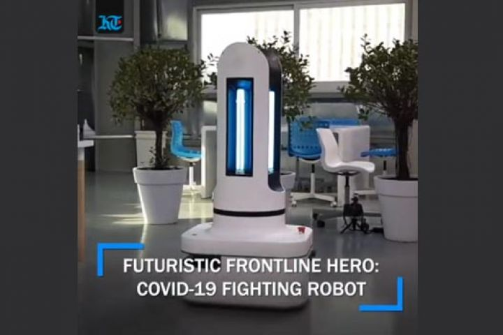 Covid-19 fighting robot